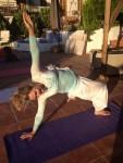 Yoga in the sunshine Steffi Goddard