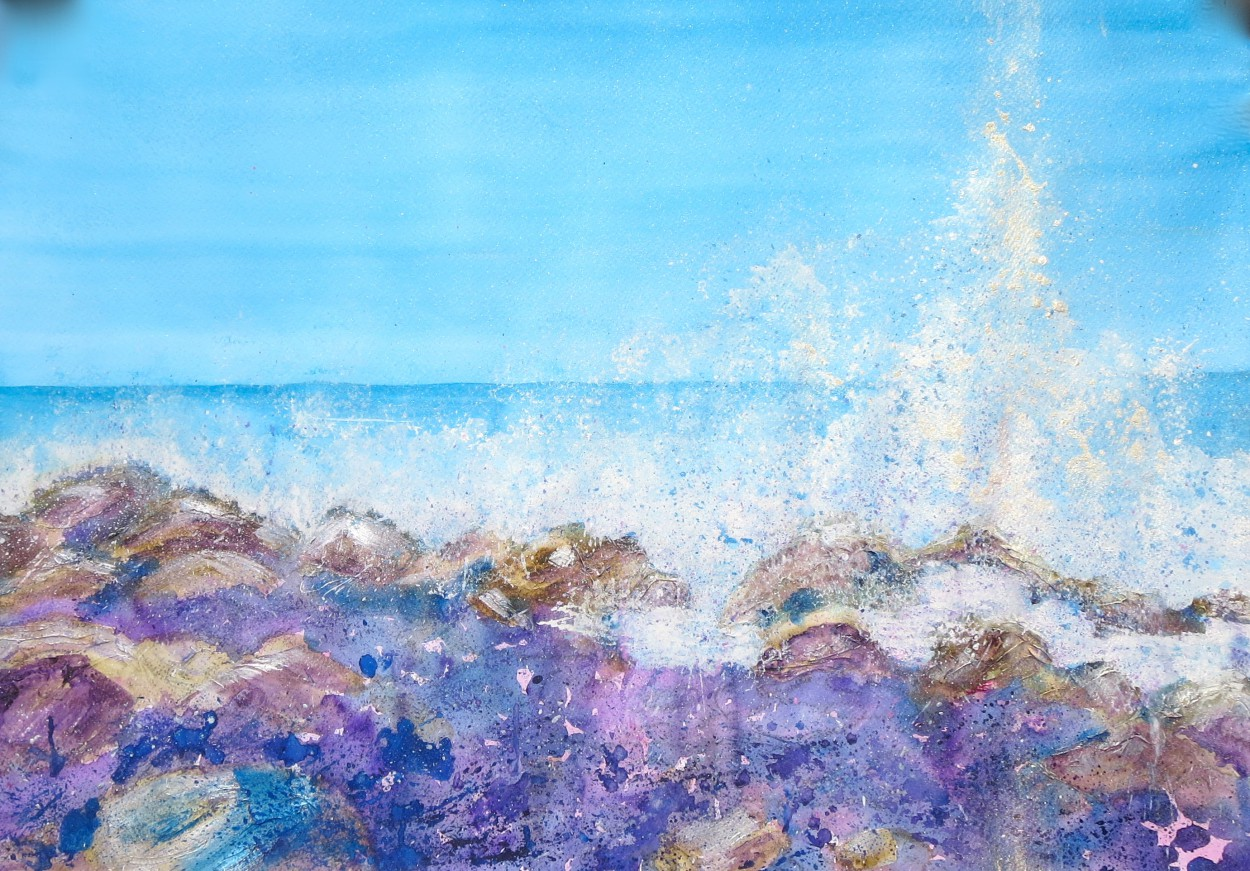 Splash ! Watercolour on Fabriano watercolour paper Art by Steffi Goddard