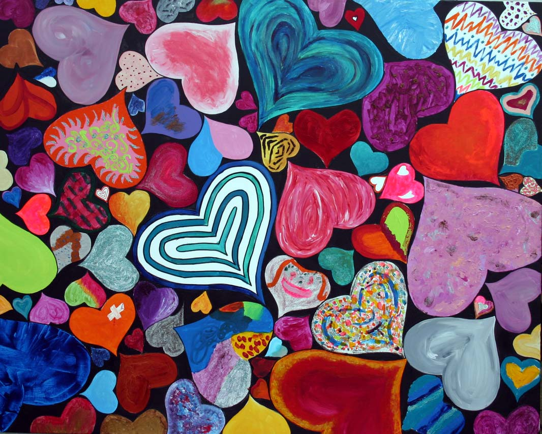 British Heart Foundation LoveHug Heart Art