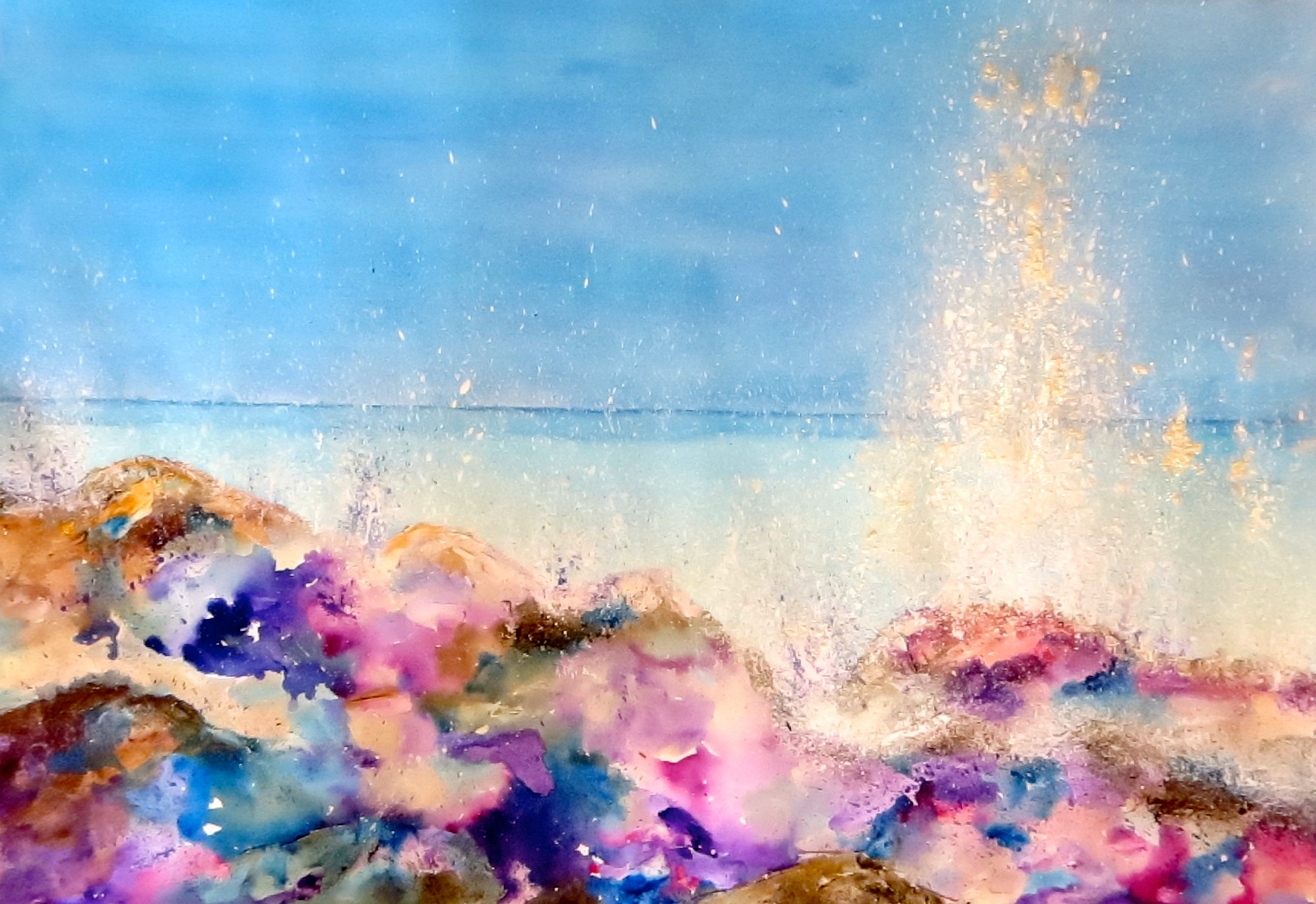 Abstract Act Seascape