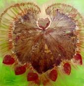 Leafy LoveHug Heart Art