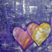 Purple Hearts LoveHug Heart Art