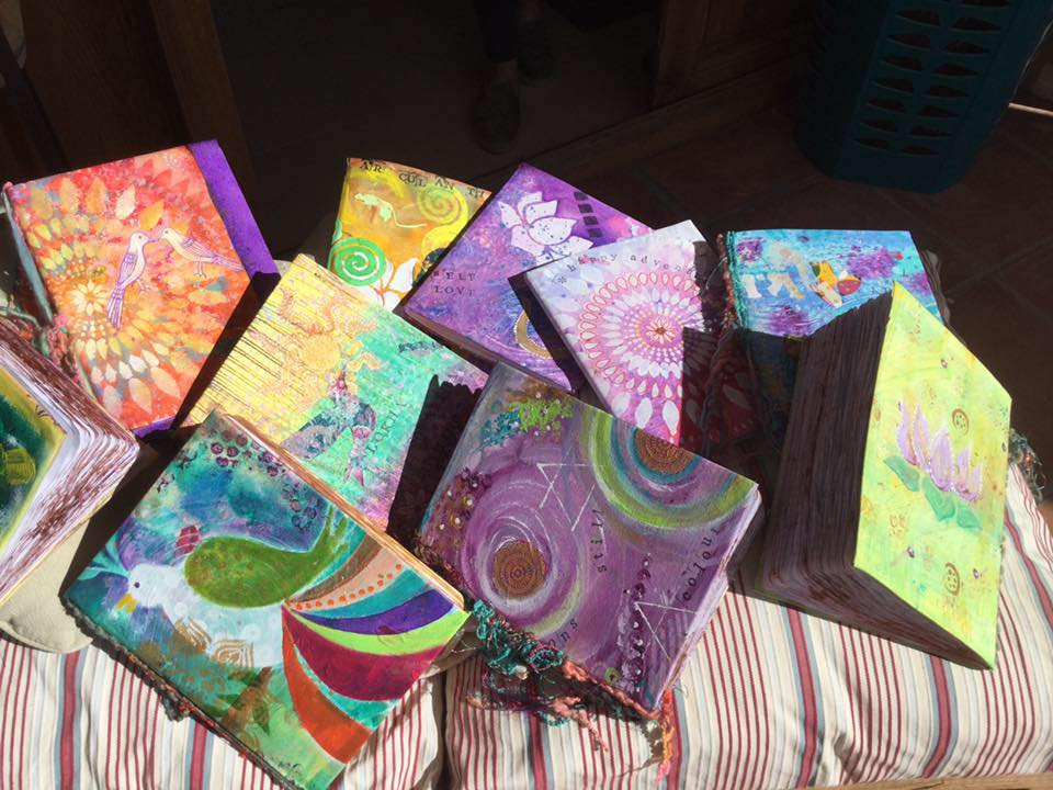 Individually hand painted notebooks