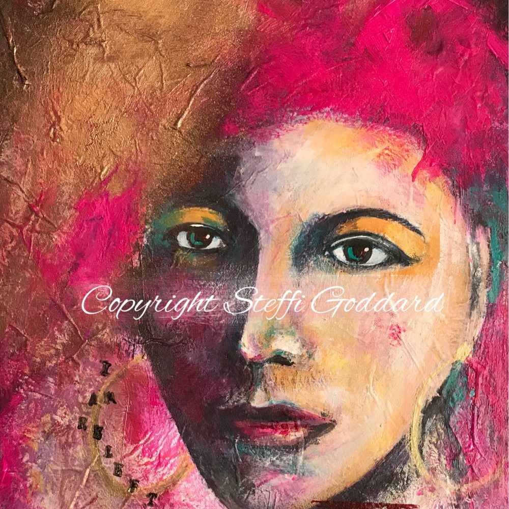 I AM Relentless Warrior Woman painting