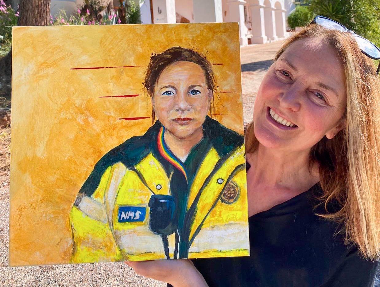 Portraits for NHS Heroes started by Artist Thomas Croft @tomcroftartist is an arts project where artists volunteer to offer to paint a portrait of an NHS worker.